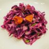 Red cabbage apricot salad