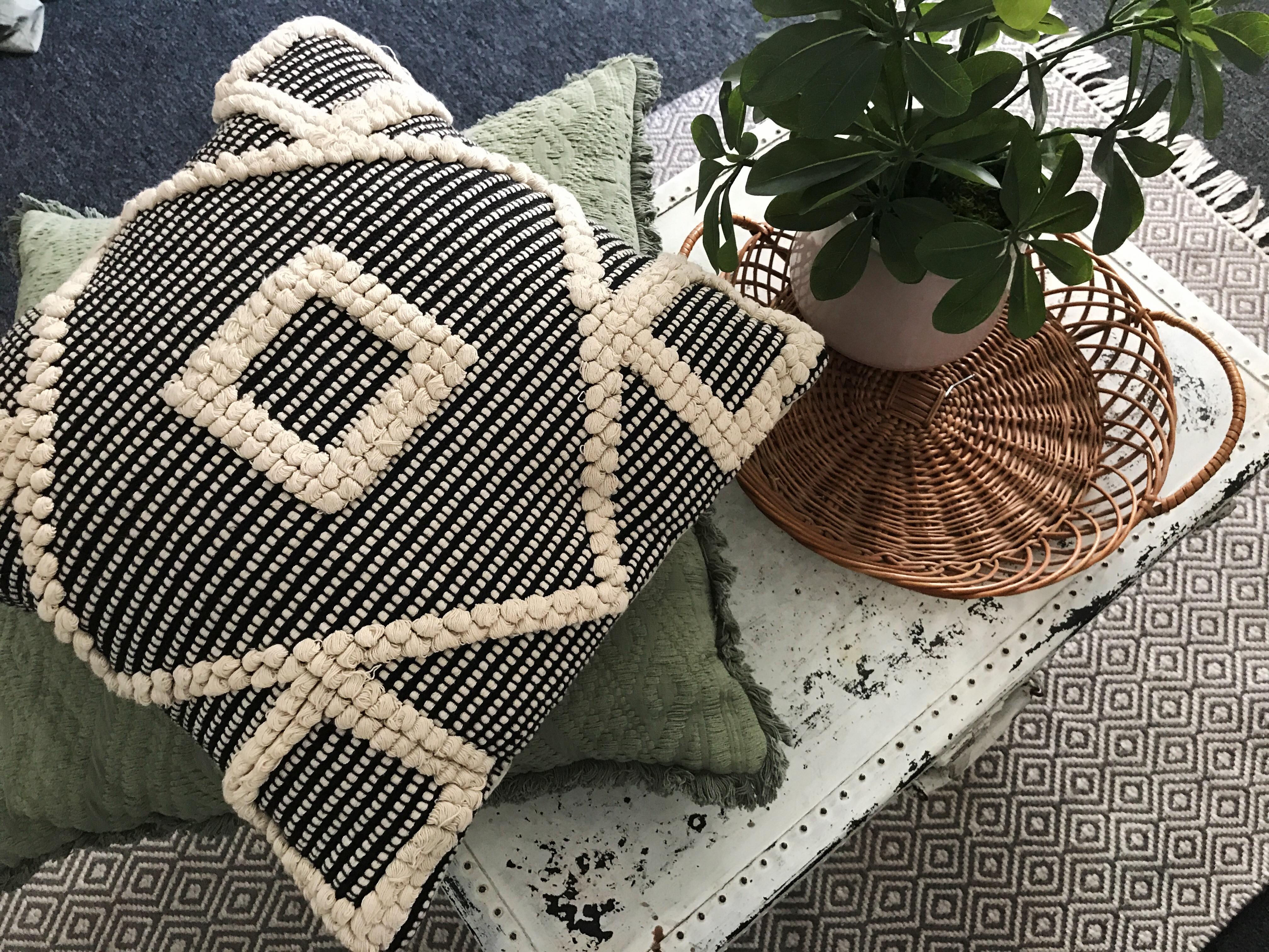 college interior design: pillows