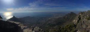Panoramic view of Cape Town from the top of Table Mountain