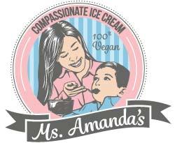 Ms. Amanda's Compassionate Ice Cream Logo
