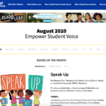 SPEAK UP chosen as NEA's Read Across America Title to Empower Student Voice!