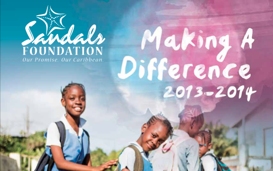 Sandals Foundation Annual Report 2014 Cover crop