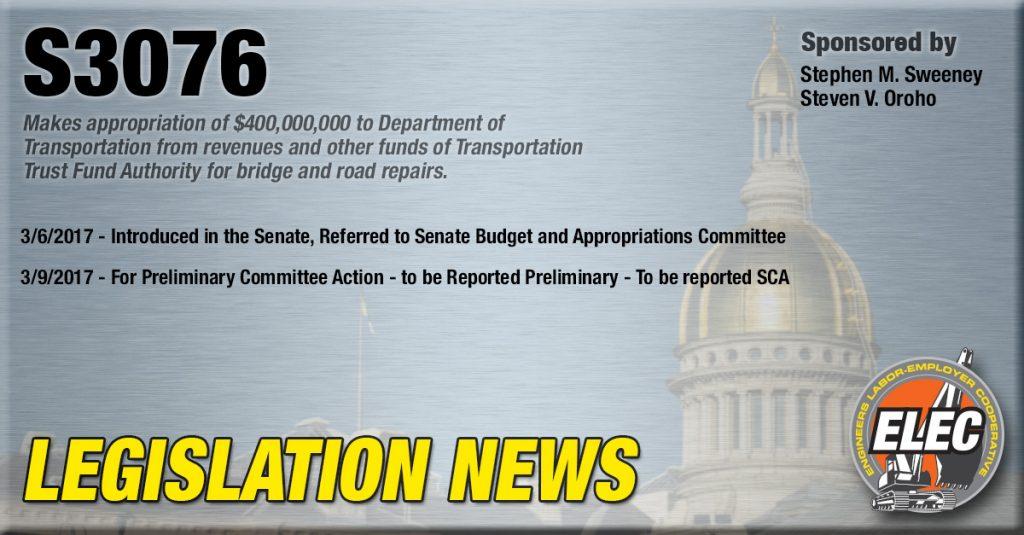 Legislation News: S3076