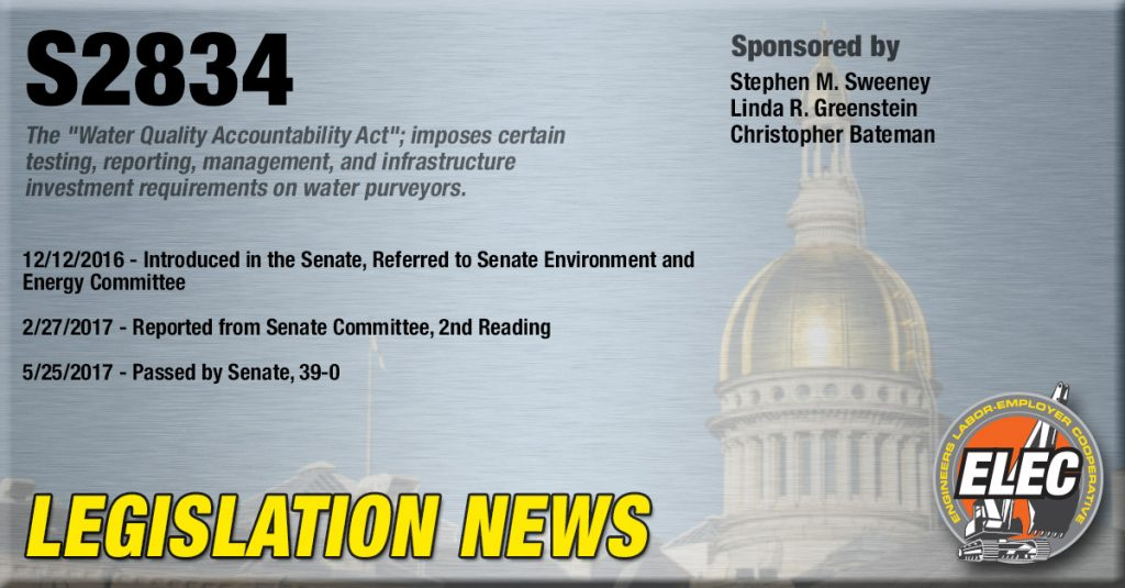 Legislation Update: Water Quality Accountability Act (S2834) Passed by Assembly