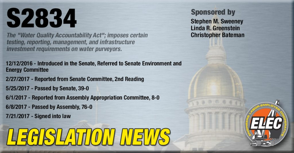 Legislation Update: Water Quality Accountability Act (S2834) Signed Into Law