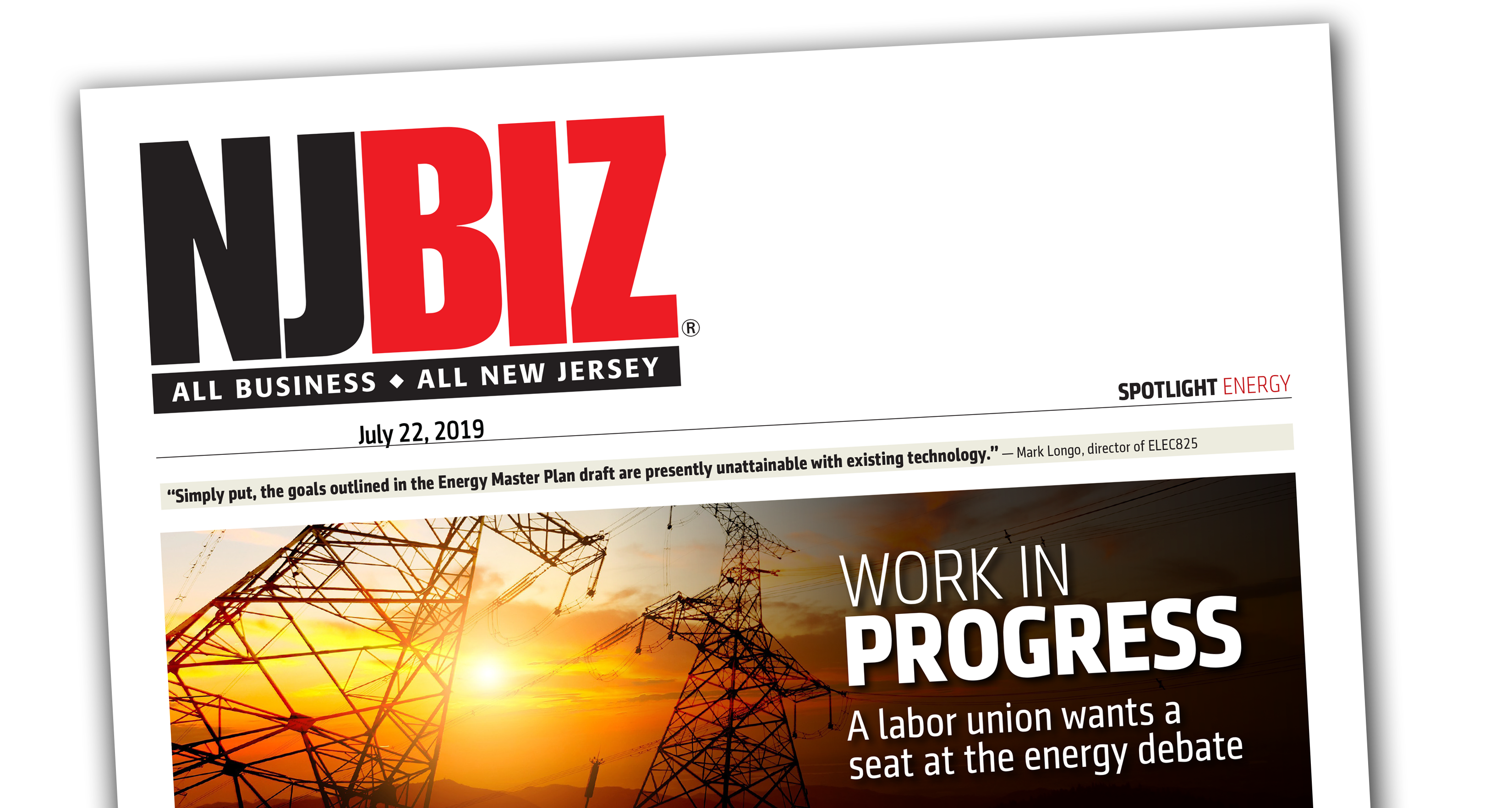 WORK IN PROGRESS: A labor union wants a seat at the energy debate
