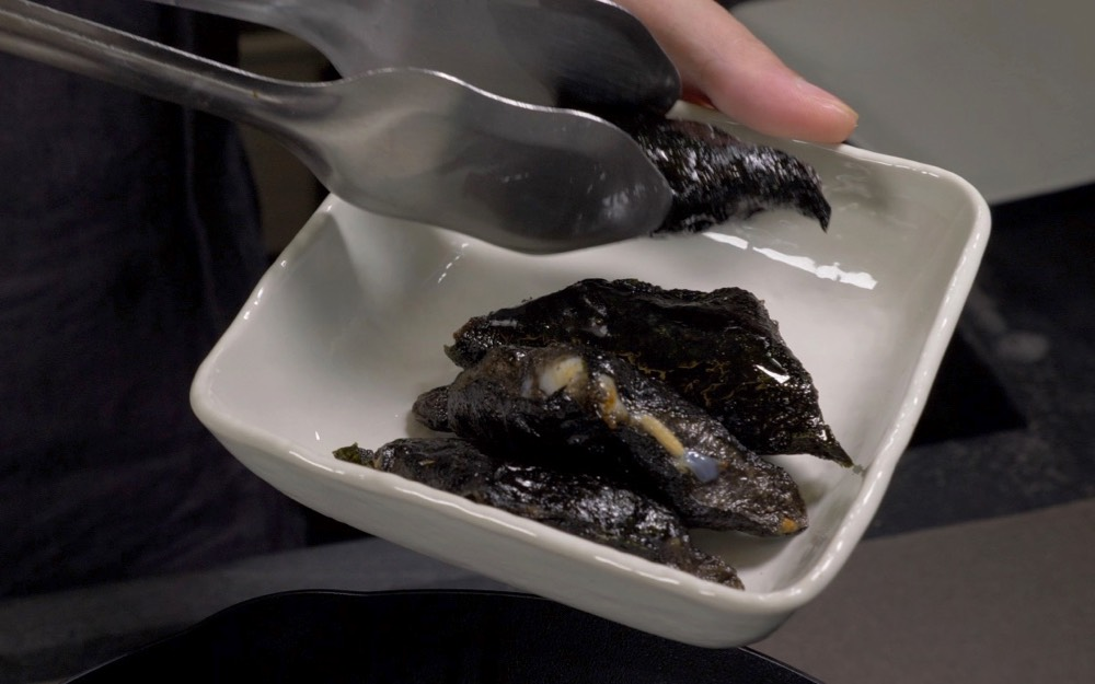ink cuttlefish seaweed wraps