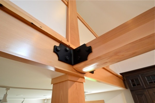Architectural Detail of Support Post and Beam with Bracket. Finished with VNC.
