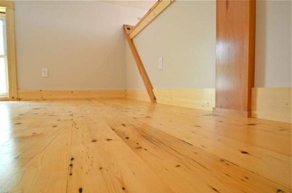 Showroom Loft, Reclaimed Hemlock Flooring. Finished with VNC.
