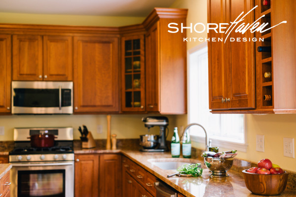Traditional Cherry Kitchen by ShoreHaven Kitchen Design
