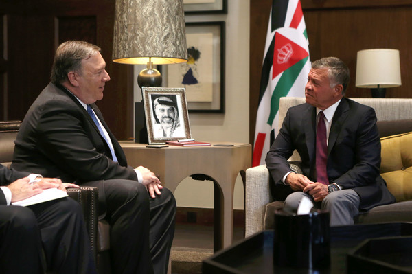 King Abdullah II  Visits  with Trump, VP Pence, and Pompeo.   (update)