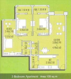 Devashri Garden 3 BHK Floor Plan Type 3