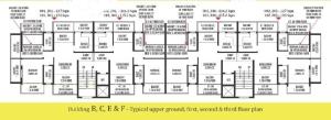 Devashri Royale_Build B,C,E & F Upper Ground, First, Second & Third Floor Plan