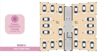 Block A - Stilt Floor Parking Plan