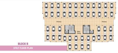 Block B - Stilt Floor Parking Plan