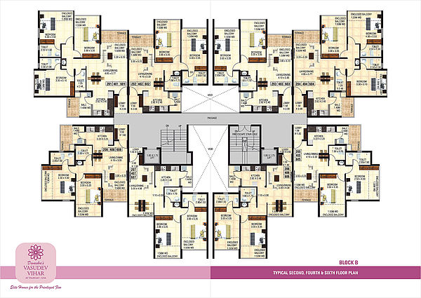 Block B - Typical 2nd, 4th and 6th Floor Plan