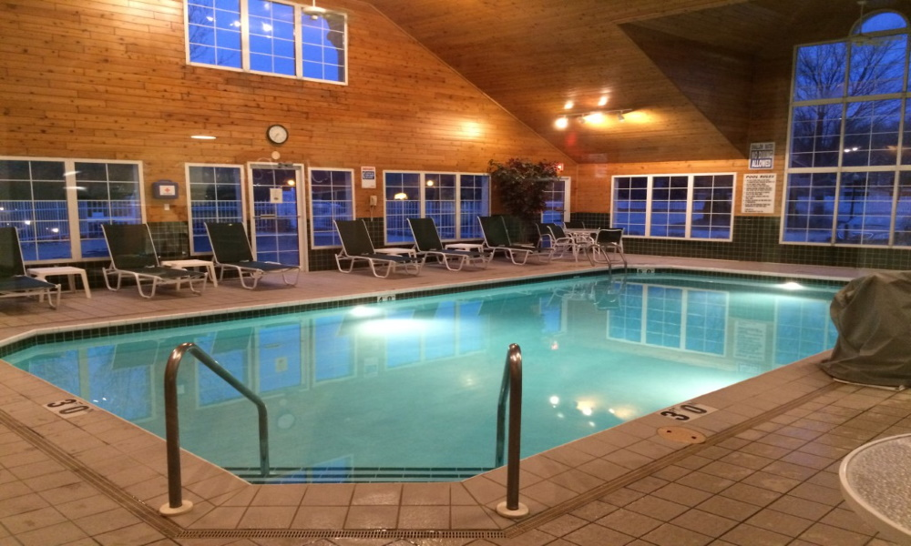 Take a dip in our heated indoor pool.