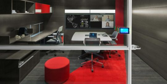 Corporate Firm, Steelcase Via Wall, Gesture Chair