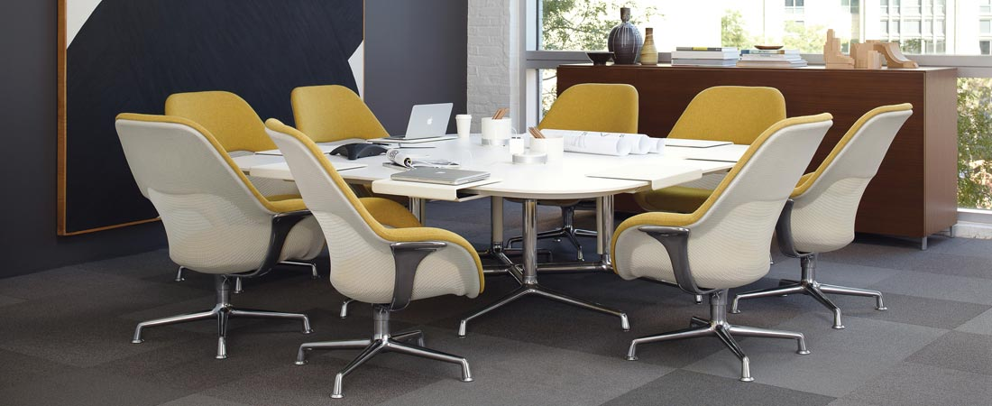 Large Corporation, Steelcase SW1 table and chairs