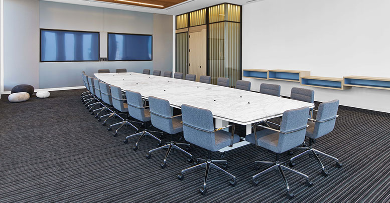 Financial Firm, Custom Milwork and custom Steelcase