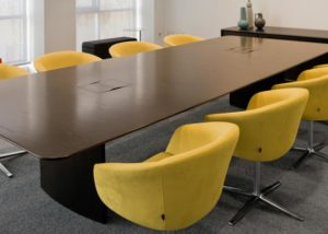 Large Law Firm, Steelcase Wood tables and Bob Chairs