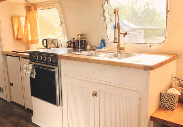 Airstream trailer interior