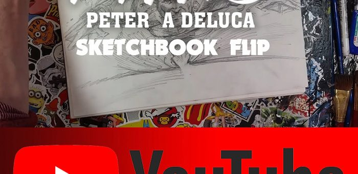 Sketchbook Flip Through Tour – Licensing Pitches – Peter A DeLuca AKAPAD