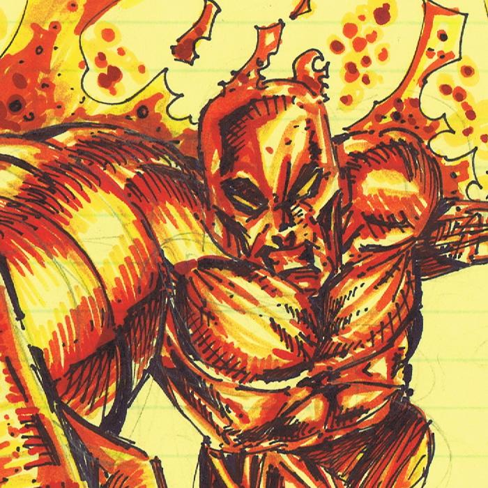 Human Torch Sketch