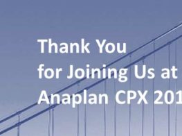 Anaplan CPX 2019