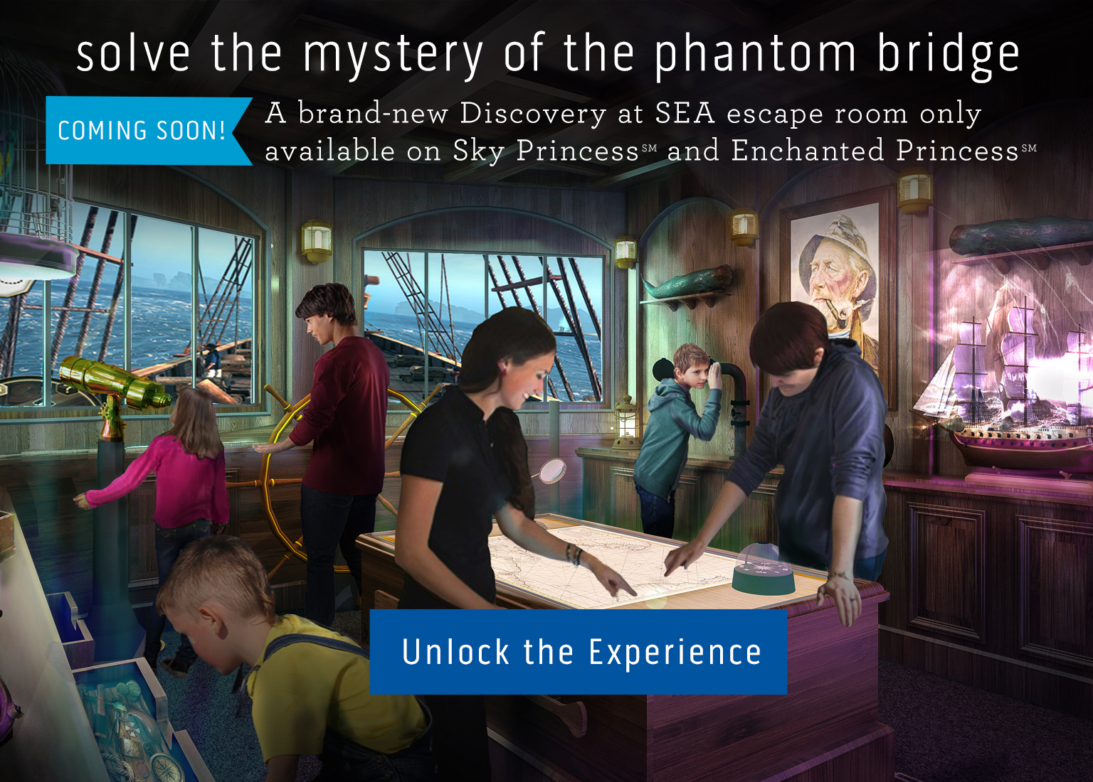 The first technologically-driven escape room at sea from Princess Cruises!