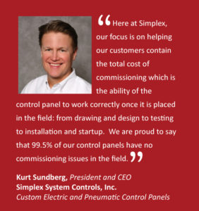 Simplex focuses on helping customers contain the total cost of commissioning