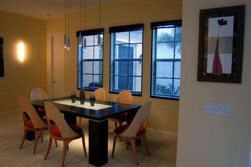 Abacoa Minimalist Dining Room