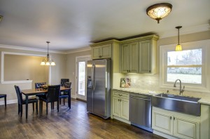 Open spacious kitchen layout.  Stainless steel appliances, new 42 inch cabinetry.