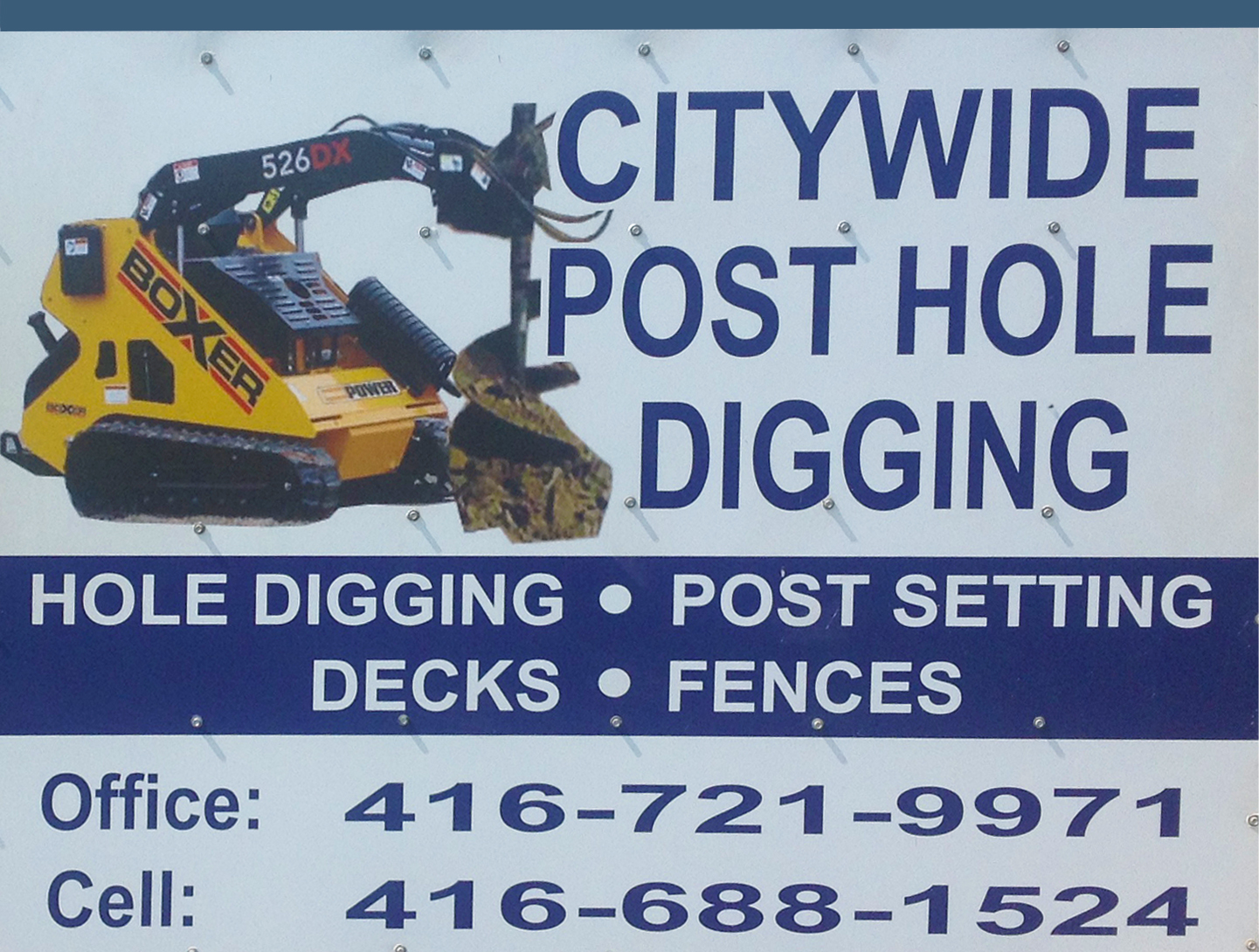 citywide post hole digging ad