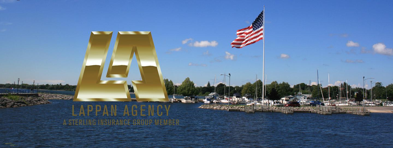 Alpena Michigan Flag in Harbor