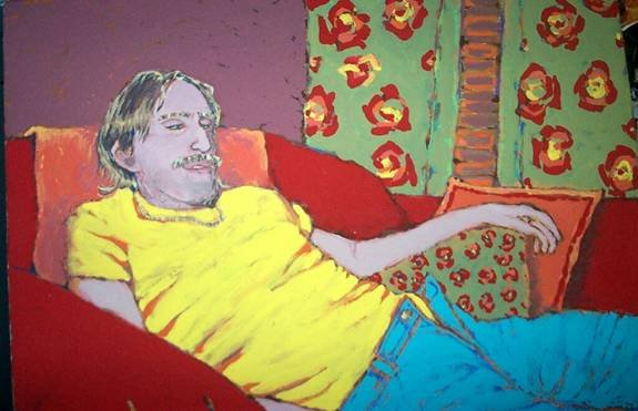 Man in Yellow Shirt by Kimberly Gerry-Tucker