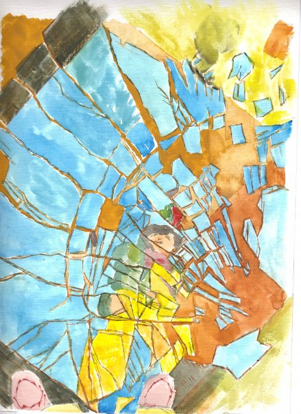 Shattered Image, Self Portrait by Kimberly Gerry-Tucker