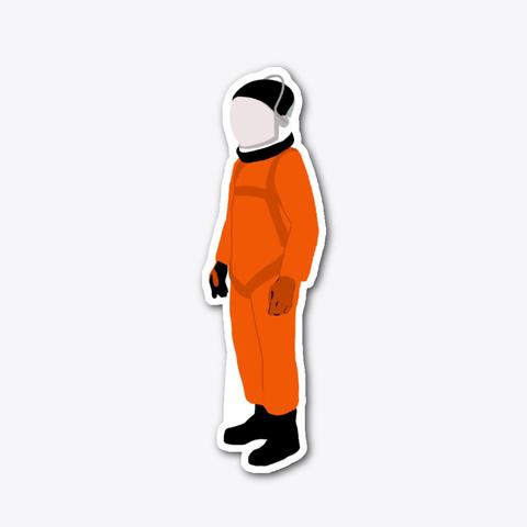 Orange Suit Sticker