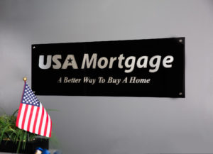 usa mortgage office sign