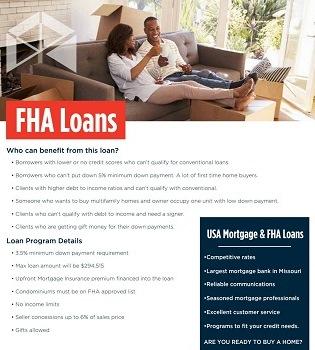 FHA Loans Brochure - FHA Home Loans | USA Mortgage - Columbia, Missouri