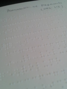 Christian book for young people in braille