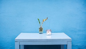 table in bare room