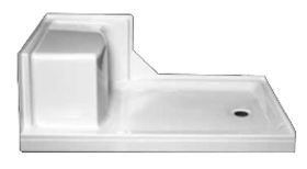 Seated Shower Base 60″ x 32″ x 18″