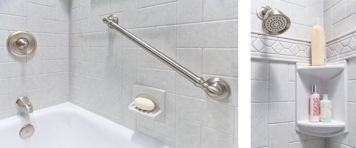 Accessories for commercial bath and showe