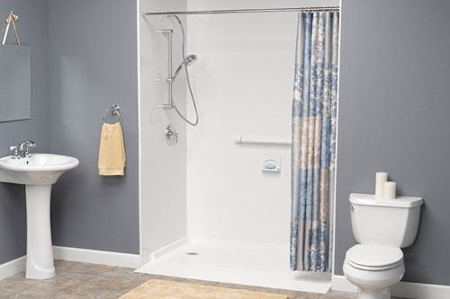 Low-Barrier Showers