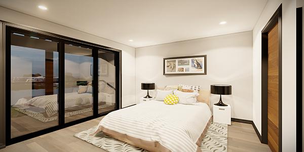 kingsbury village townhouse rental master bedroom