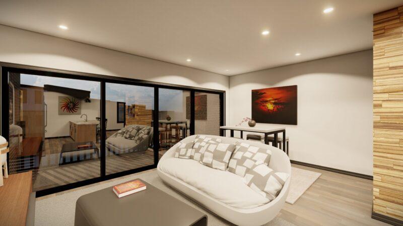 kingsbury village townhouse rental living room