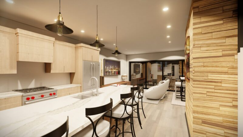 Cityview Kitchen and Living Room