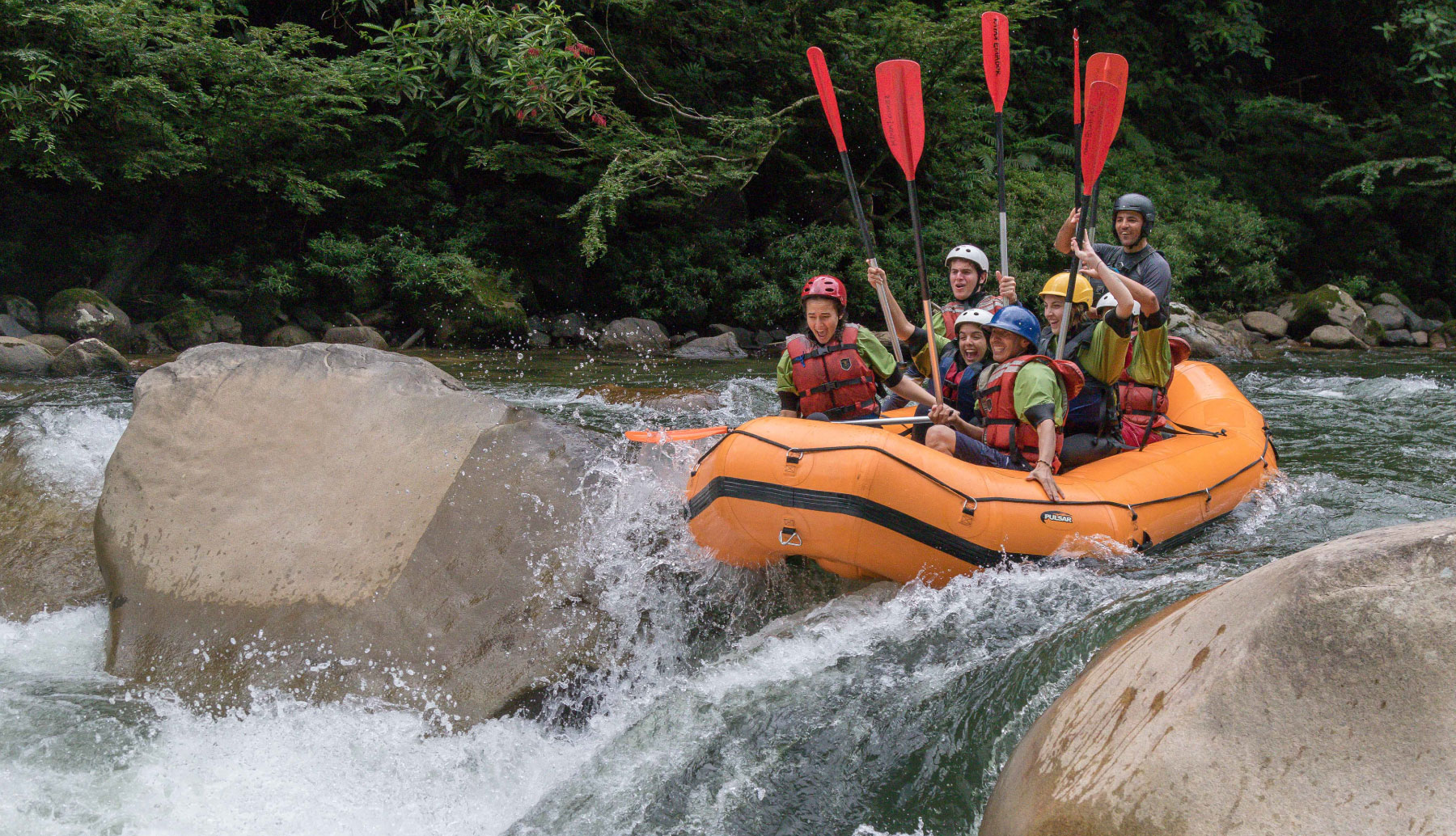 Rafting Jondachi River with Kayak Ecuador.