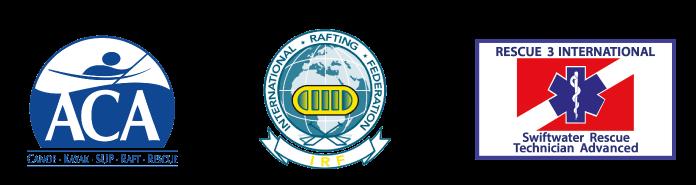 ACA (American Canoe Association), IRF (International Rafting Federation), WAFA (Wilderness Advanced First Aids)